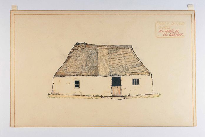 Irish Folklife Architectural Drawing Collection 01 - Baile an tSaigairt, An Spid