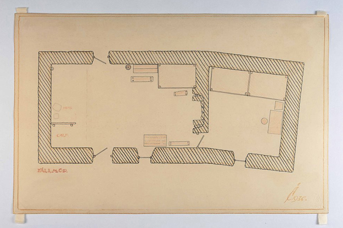 Irish Folklife Architectural Drawing Collection 02 - An Fall Mor, Contae Maigh E