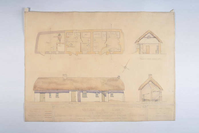 Irish Folklife Architectural Drawing Collection 05 - Lusk, County Dublin