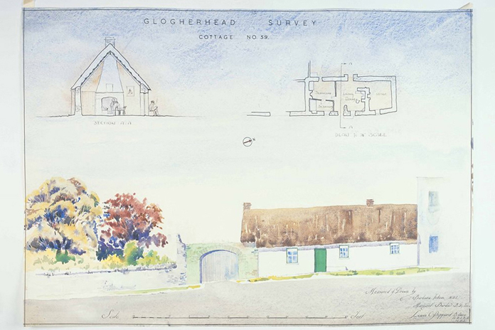 Irish Folklife Architectural Drawing Collection 06 - Clogherhead, County Louth