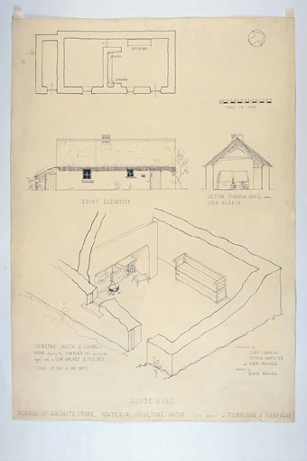 Irish Folklife Architectural Drawing Collection 07 - Curragh, County Waterford