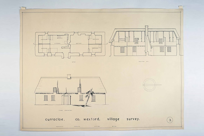 Irish Folklife Architectural Drawing Collection 08 - Curracloe, County Wexford
