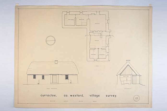 Irish Folklife Architectural Drawing Collection 09 - Curracloe, County Wexford