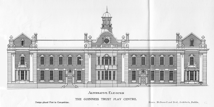Iveagh Play Centre, Bull Alley Street 02 - Alternative Elevation (1911)