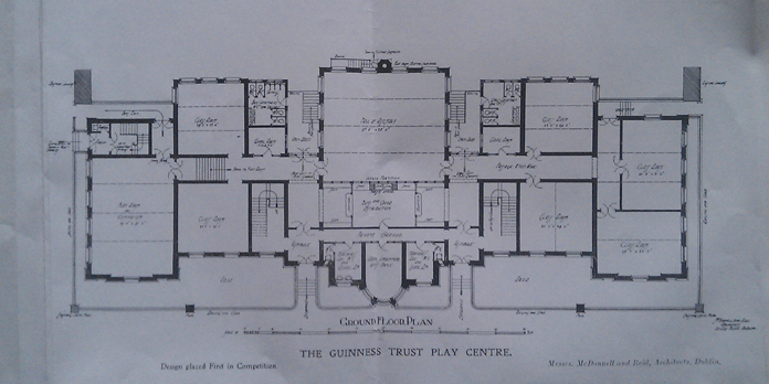 Iveagh Play Centre, Bull Alley Street 07 - Ground Floor Plan (1911)