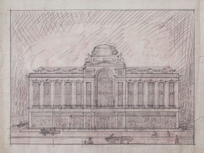 Roches Stores, Cork 02 - Sketch of Front Elevation (1924)