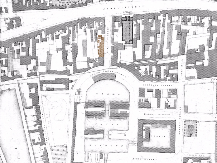 The Echlin Buildings, Echlin Street, Dublin 01 - Ordnance Survey (1864)