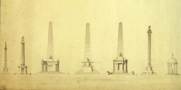 Wellington Testimonial, Phoenix Park 02 - Ink and Wash Submissions